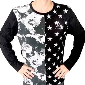 Asphalt Yacht Club Star Abstract Long Sleeved Tee
